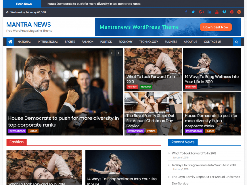 60+ Best Free WordPress Themes of 2019 7