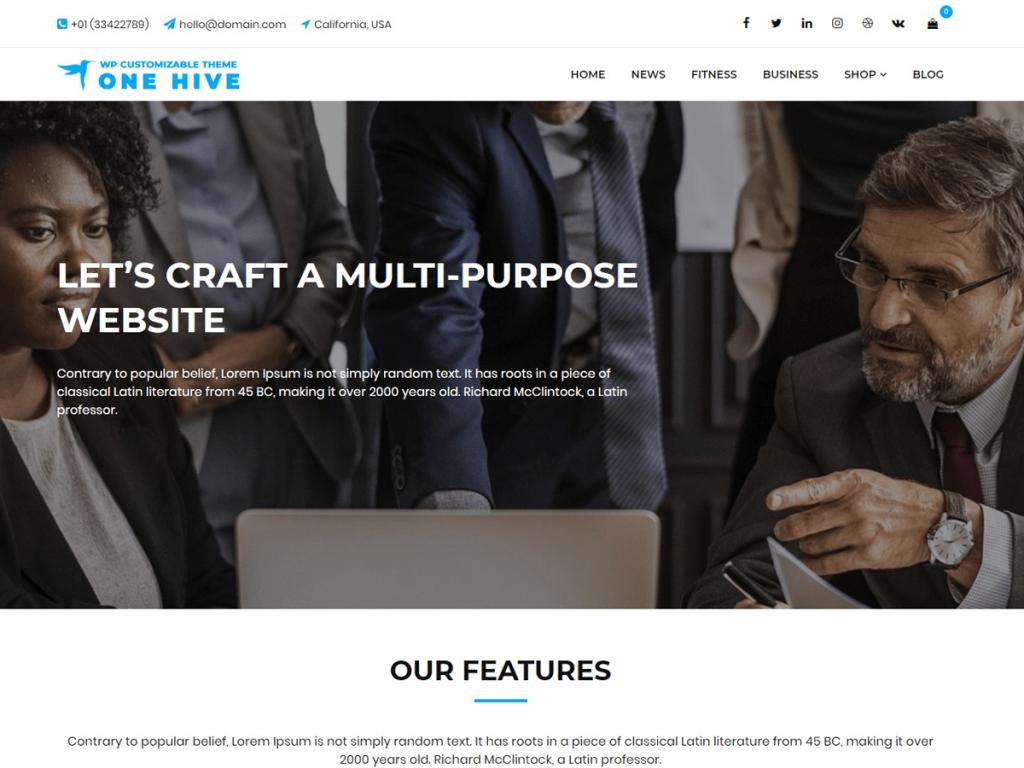 10+ Hand-picked best free multipurpose WordPress themes 1