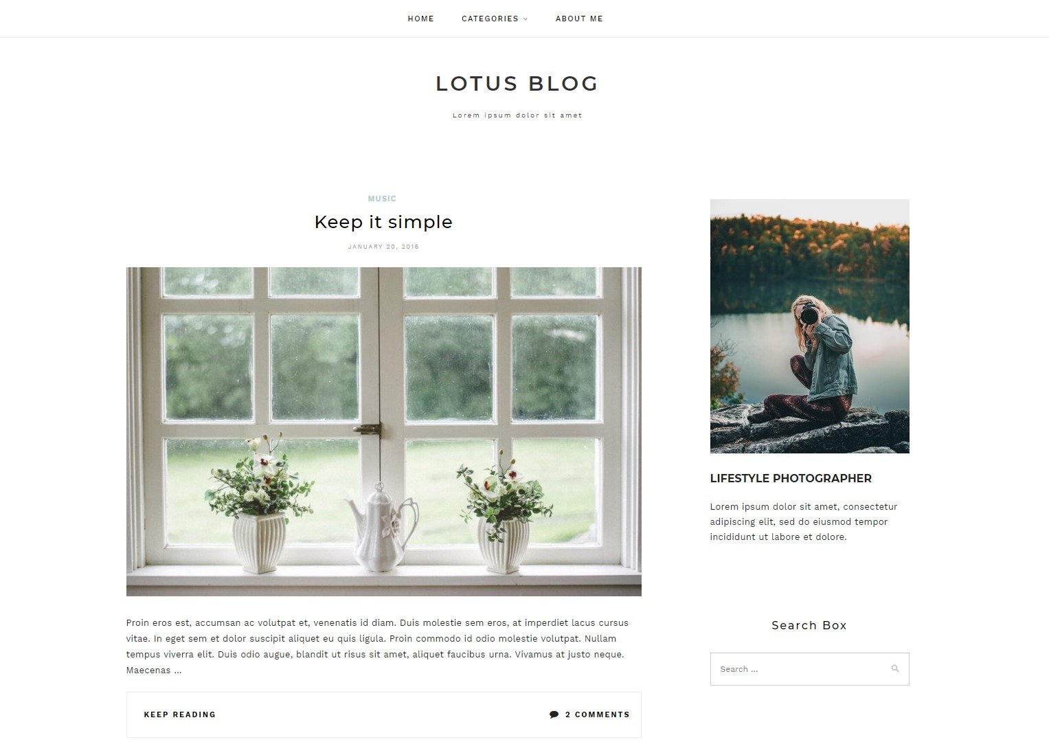 20+ Best Free Elegant WordPress Themes for Personal Blog & Writers 34
