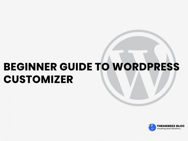 [ 2019 ] Beginner Guide To WordPress Customizer
