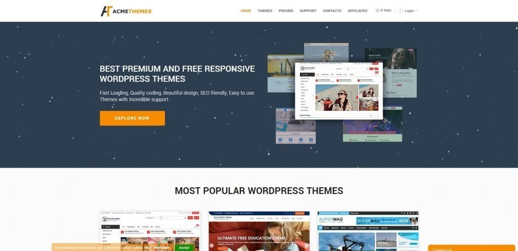 Acme themes christmas & new year WordPress deals