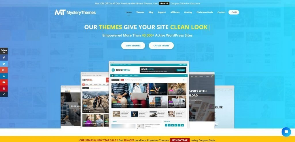 if youre looking for the best themes to build the professional website then grab the wonderful deal on this christmas and new year