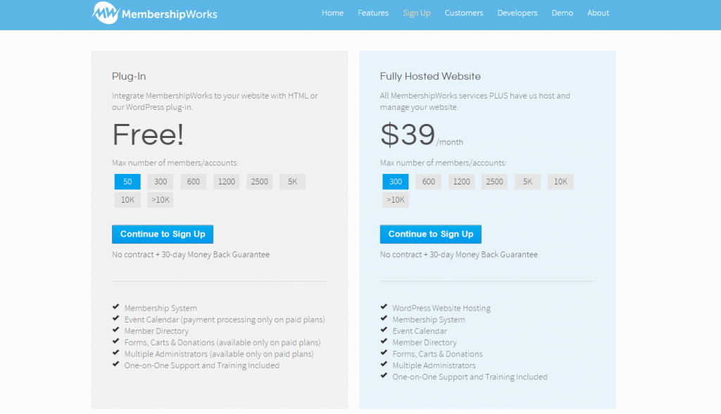 Pricing MembershipWorks