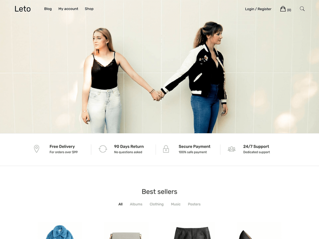 leto woocommerce theme screenshot