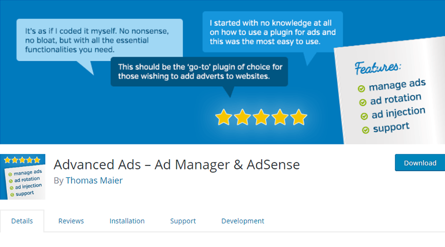 Advanced Ads-Ad Manager & AdSense Screen_Shot. Png