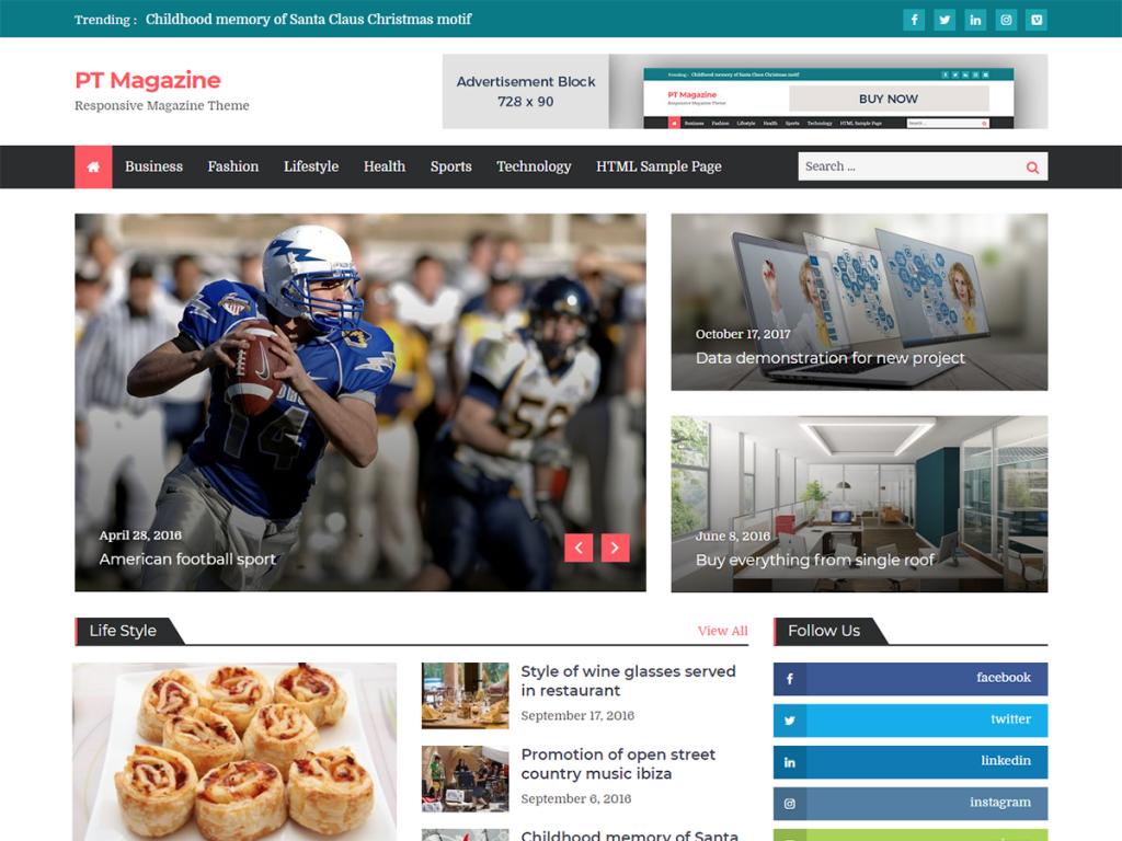 best free wordpress news & magazine themes