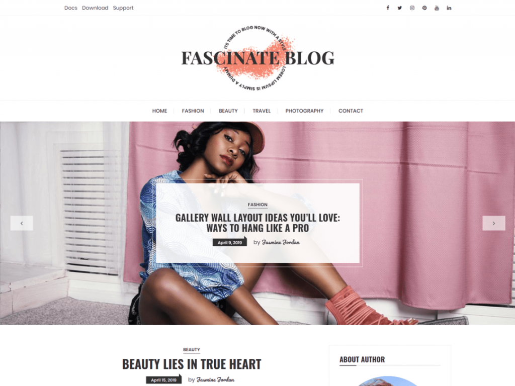 Fascinate-blog-screenshot