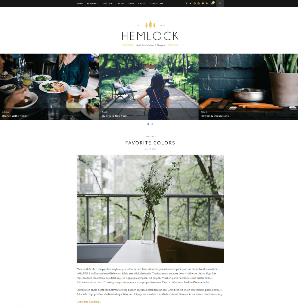 Hemlock theme screenshot