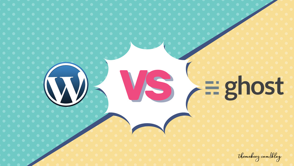 wordpress vs ghost featured image