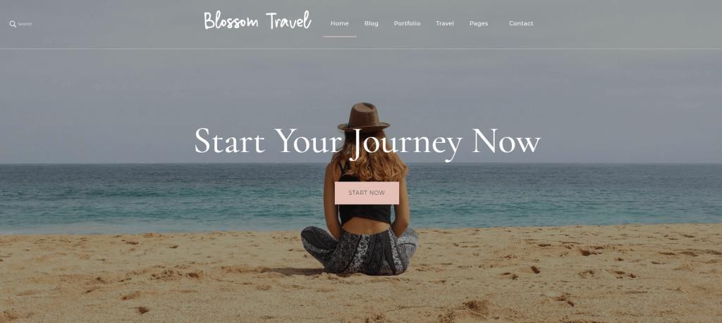 Blossom Travel theme screenshot