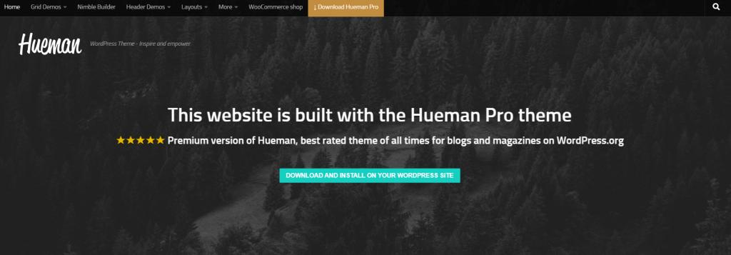 Hueman theme screenshot