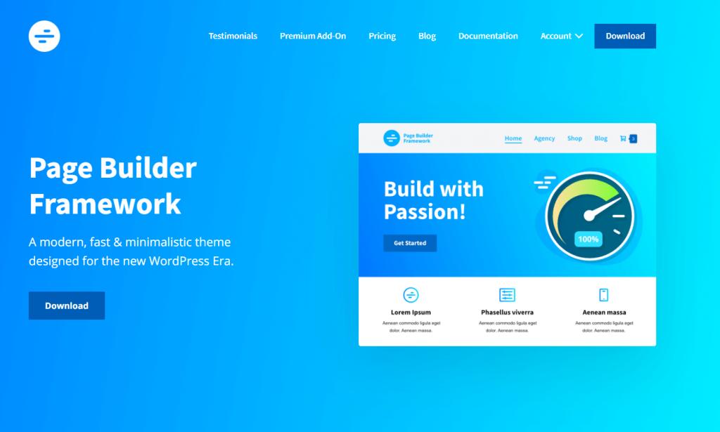 page builder framework ss