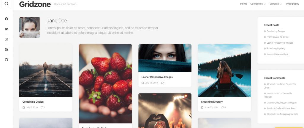 Gridzone WordPress theme ss