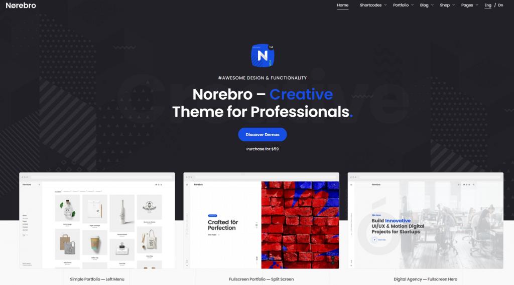 Norebro WordPress theme ss