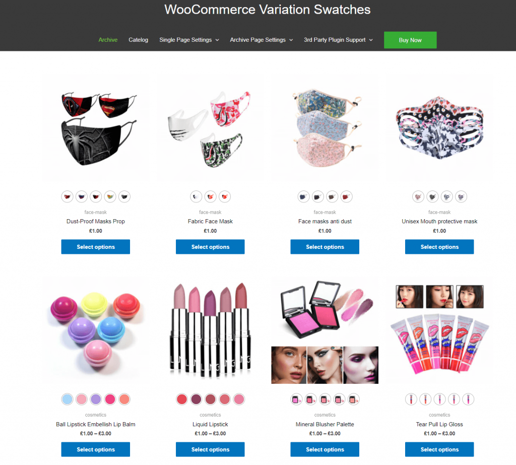 Variation Swatches for WooCommerce Plugin Screenshot
