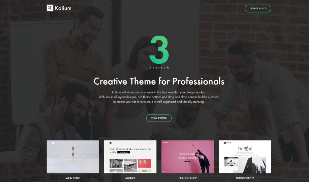 Kalium WordPress theme ss