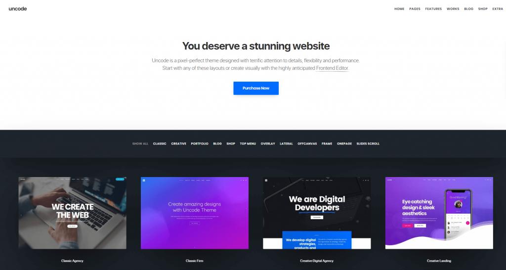 Uncode WordPress theme ss