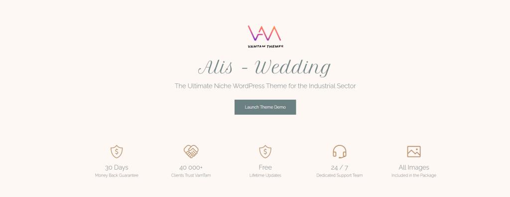 Alis - Wedding Planner Theme ss