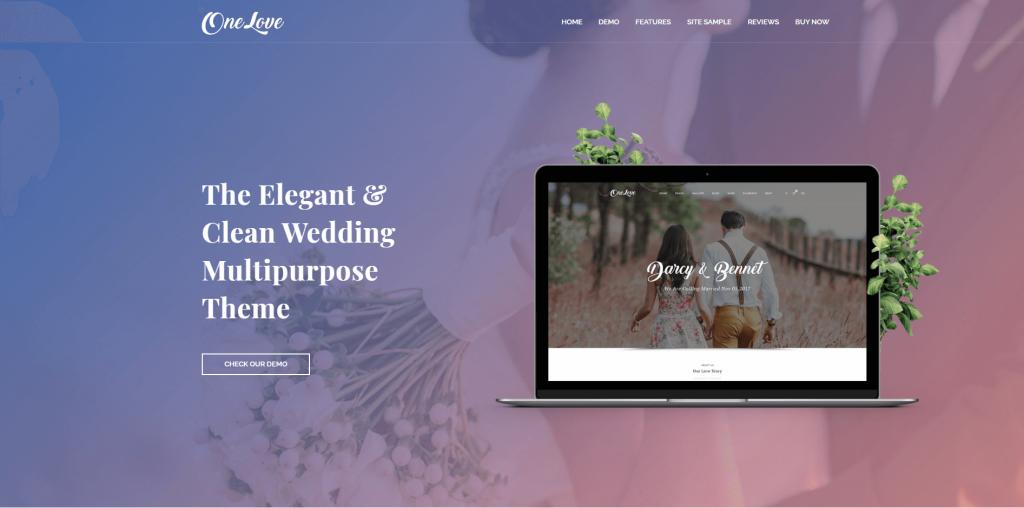 One Love - The Elegant & Clean Multipurpose Wedding WordPress Theme ss