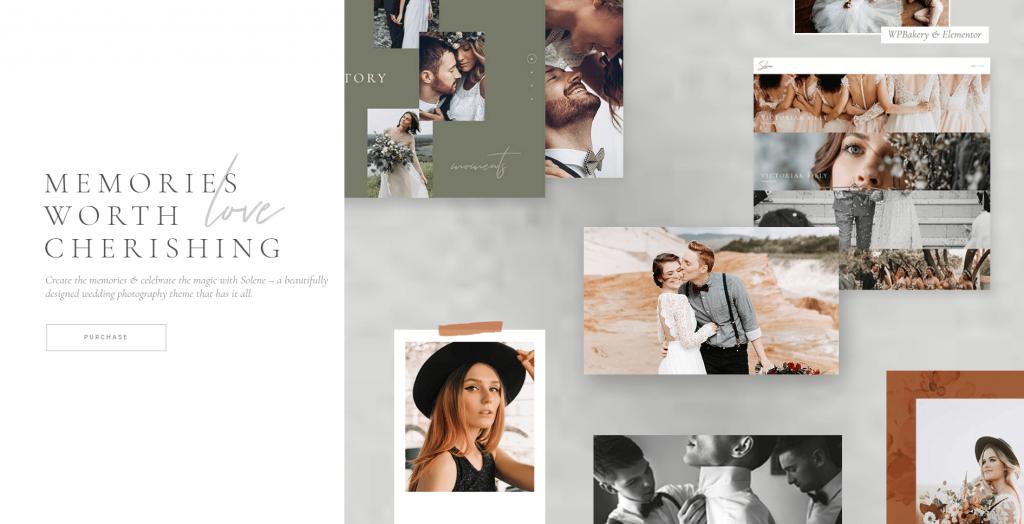 Solene - Wedding Photography WordPress theme ss