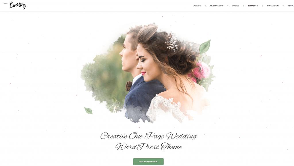 Sweetinz - Creative OnePage Wedding WordPress Theme ss