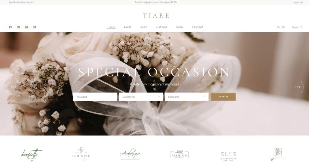 Tiare - Wedding Vendor Directory Theme ss