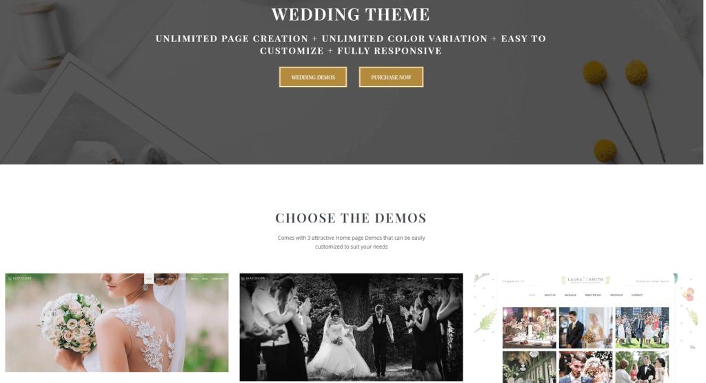 Wedding Photographer WordPress Theme - Vivagh Ss