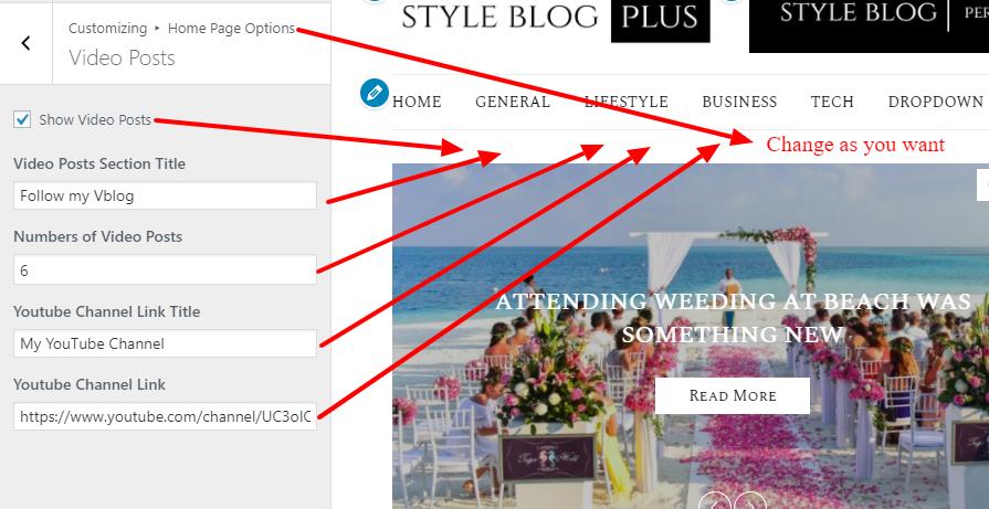 Style blog Theme documentation 14