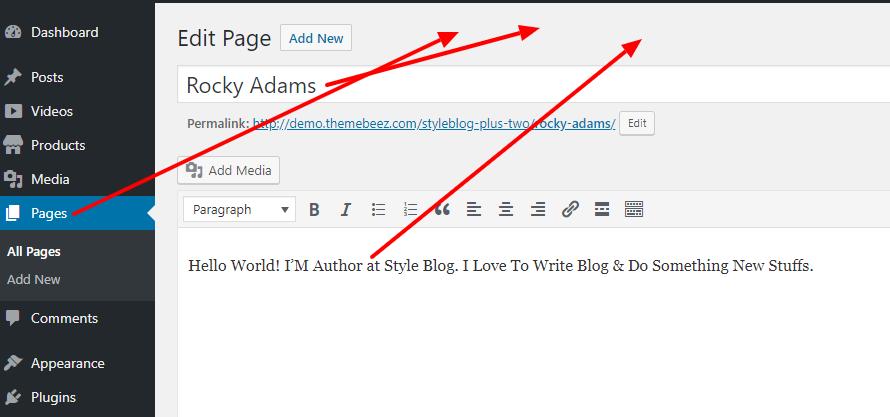 Style blog Theme documentation 9