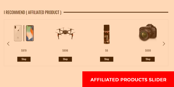 Affiliated products slider