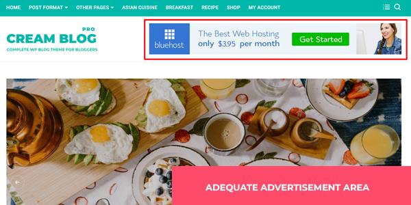 Pro: Adequate Advertisement widgets area
