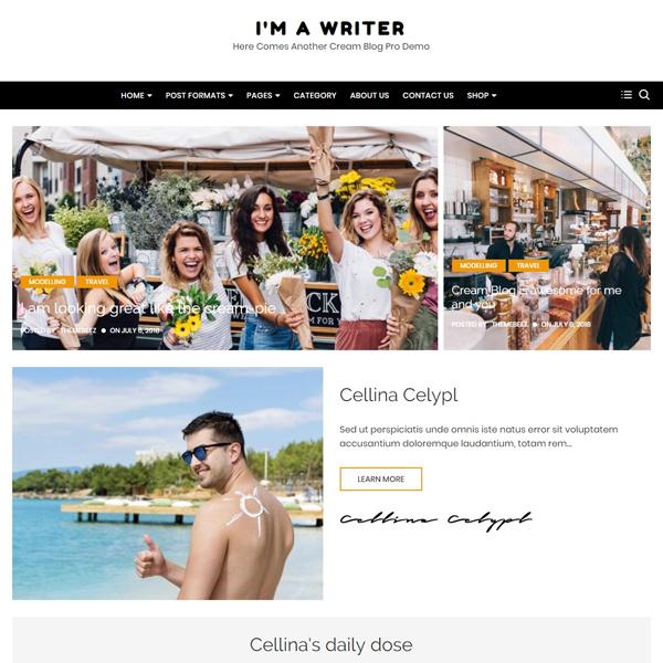 Cream blog pro demos 8
