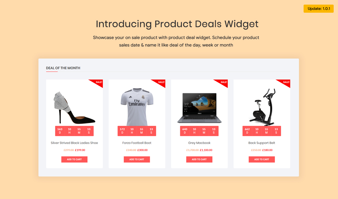 Product deal widget